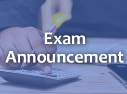 Exam Announcement